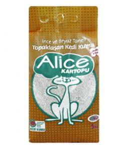 Alice Pudra Kokulu İnce Taneli Kedi Kumu 5 Kg