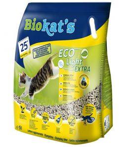 Biokats Eco Light Extra Pelet Aktif Karbonlu Kedi Kumu 5 Lt