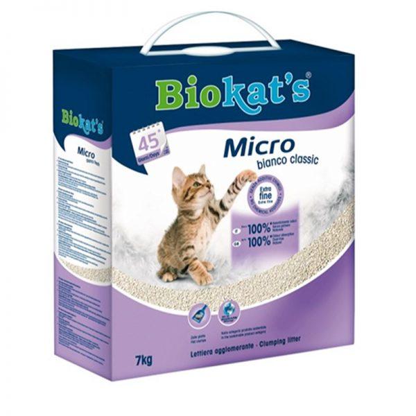 Biokats Kedi Kumu Micro Bianco Classic 7 Kg