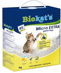 Biokats Kedi Kumu Micro Bianco Fresh Extra 7Kg