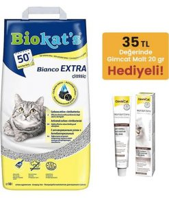 Biokats Topaklanan Kedi Kumu Bianco Extra Classic 10 Lt