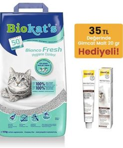Biokats Topaklanan Kedi Kumu Bianco Fresh Bahar Kokulu 10 Lt
