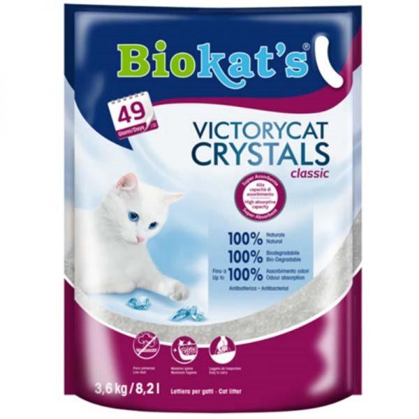 Biokats Victorycat Classic Süper Emici Silica Jel Kedi Kumu 3.6 Kg 8.2 Lt