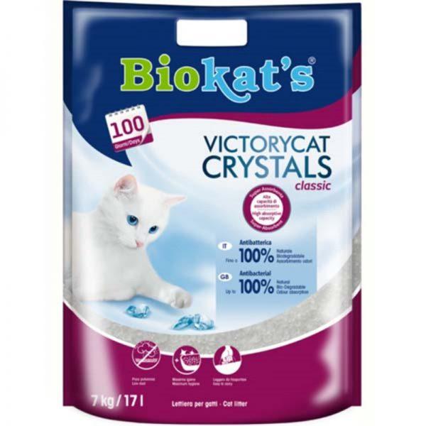 Biokats Victorycat Classic Süper Emici Silica Jel Kedi Kumu 7 Kg