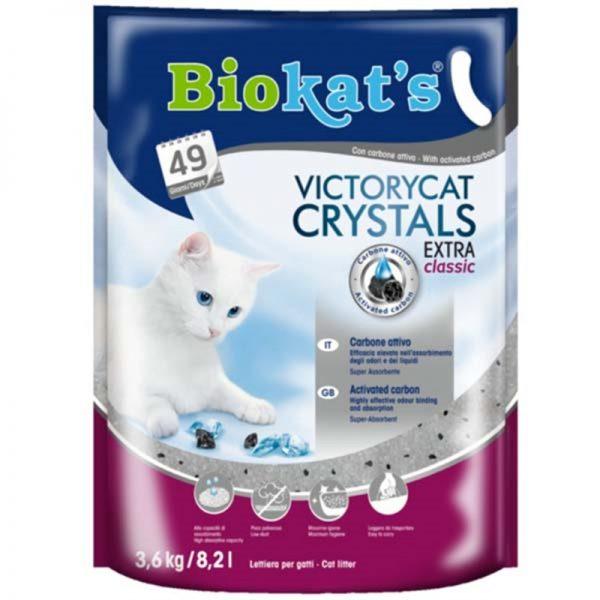 Biokats Victorycat Extra Classic Süper Emici Karbonlu Silica Jel Kedi Kumu 3