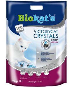 Biokats Victorycat Extra Classic Süper Emici Karbonlu  Silica Jel Kedi Kumu 7 Kg 17 Lt
