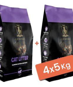 Cat Royale Bebek Pudralı Topaklanan Doğal Kedi Kumu 4x5 Kg
