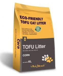 Dubex Tofu Mısır Kokulu Topaklanan Organik Kedi Kumu 6 Lt