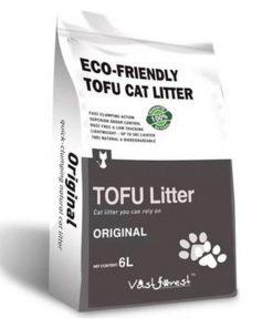 Dubex Tofu Orjinal Kokusuz Topaklanan Organik Kedi Kumu 6 Lt