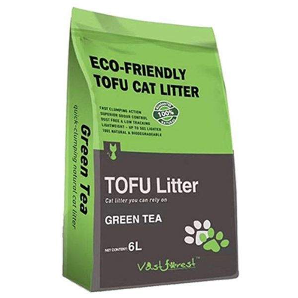 Dubex Tofu Yeşil Çay Kokulu Topaklanan Organik Kedi Kumu 6 Lt