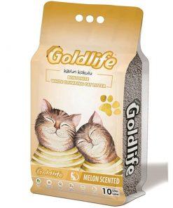 GoldLife Kavun Kokulu Topaklanan Bentonit Kalın Taneli Kedi Kumu 10 Lt