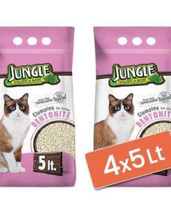 Jungle Natural Kokusuz Bentonit Kedi Kumu İnce 4x5 Lt