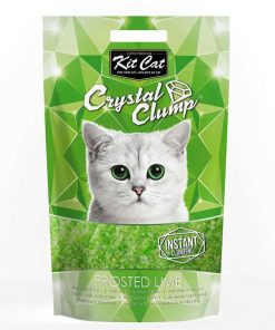 Kit Cat Frosted Lime Topaklanan Silika Kedi Kumu 4 Lt