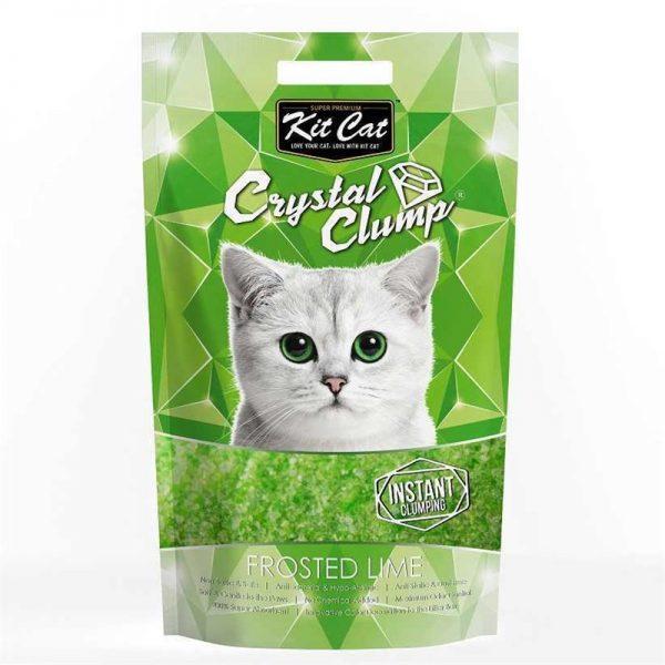 Kit Cat Frosted Lime Topaklanan Silika Kedi Kumu 4 Lt