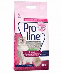 Proline Bebek Pudralı Bentonite Topaklanan Kedi Kumu 10 Lt