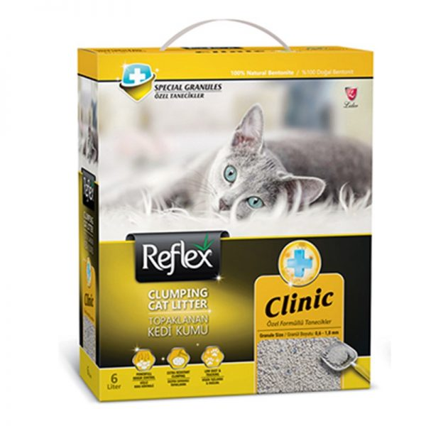 Reflex Klinik Özel Tanecik Süper Hızlı Topaklanan Kedi Kumu 6 Lt