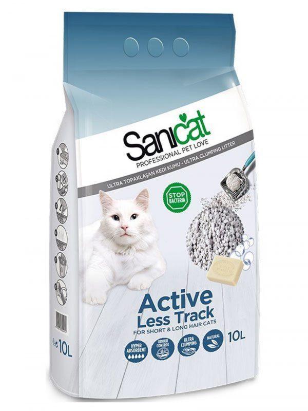 Sanicat Active Marsilya Sabunlu Topaklaşan Kedi Kumu Kalın 10 Lt