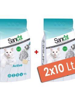 Sanicat Active Sabunlu Topaklaşan Kedi Kumu İnce 2x10 Lt