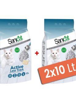 Sanicat Active Sabunlu Topaklaşan Kedi Kumu Kalın 2x10 Lt
