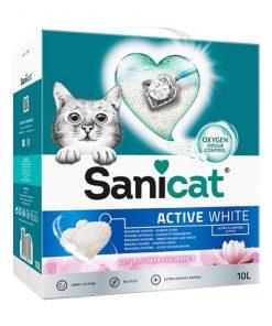 Sanicat Active White Topaklanan Kedi Kumu Lotus Çiçeği Kokulu 10 Lt