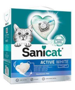 Sanicat Active White Ultra Topaklanan Kedi Kumu 6 lt