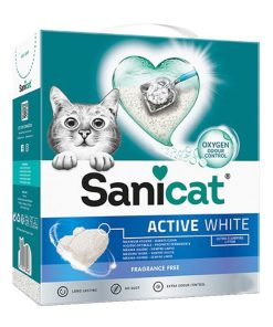 Sanicat Active White Ultra Topaklanan Kedi Kumu 10 Lt